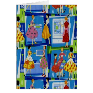 50's Housewife Design Greeting Card