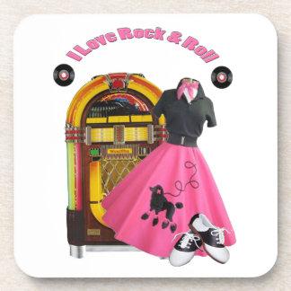 50's I Love Rock & Roll Coaster Set (6)