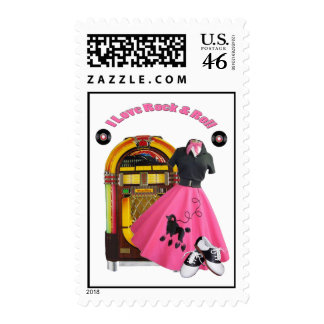 50's I Love Rock & Roll Postage Stamps