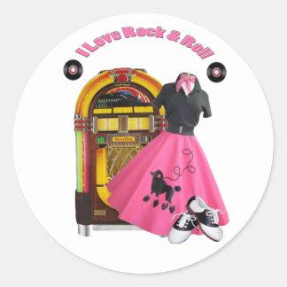 50's I Love Rock & Roll Stickers