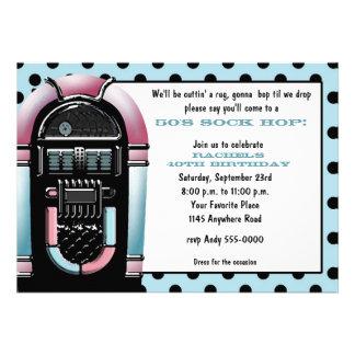 50s Jukebox Birthday Invitation
