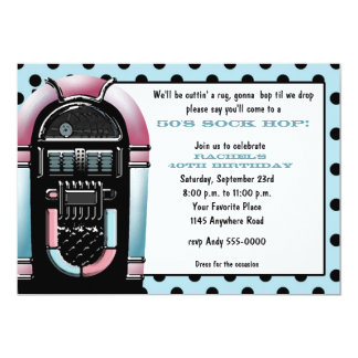 50s Jukebox Birthday Invitation