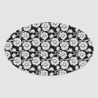 50's Lace 2.png Oval Stickers