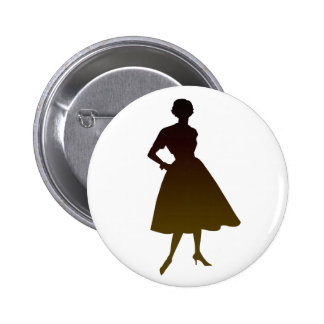 50s Lady Pinback Buttons