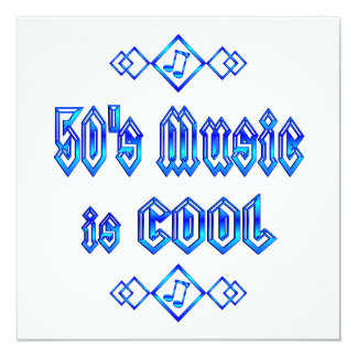 50's Music is Cool Invitation