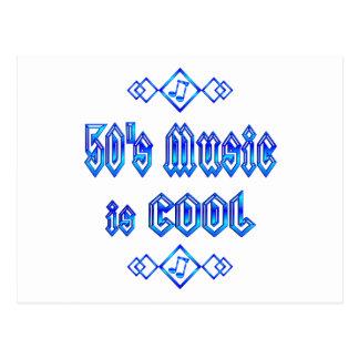 50's Music is Cool Postcard
