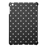 50's Polka Dot iPad Mini Case - Black and White