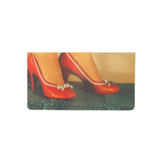 50s Red High Heels Checkbook Cover
