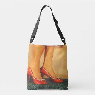 50s Red High Heels Crossbody Bag