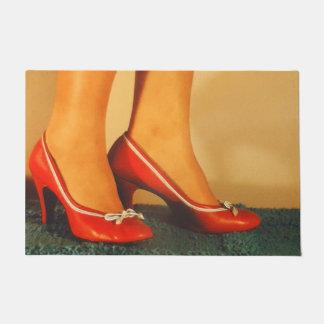 50s Red High Heels Doormat