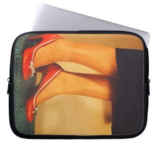 50s Red High Heels Laptop Sleeve