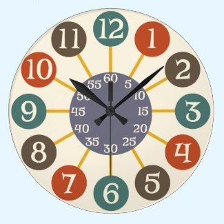 50s Retro Atomic Starburst Midcentury Modern Clock