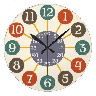 50s Retro Atomic Starburst Midcentury Modern Clocks