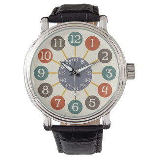 50s Retro Atomic Starburst Midcentury Modern Wristwatch