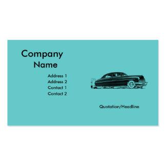 50s Retro Automobile Business Card Template