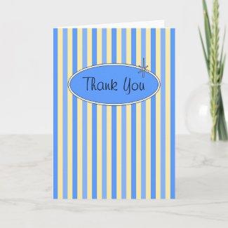 50's Retro Blueberries & Cream Thank You Card card
