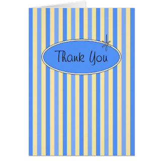 50's Retro Blueberries & Cream Thank You Card
