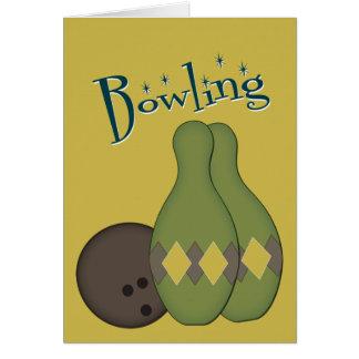 50s Retro Bowling Greeting Card