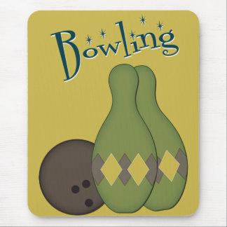 50s Retro Bowling Mouse Pad