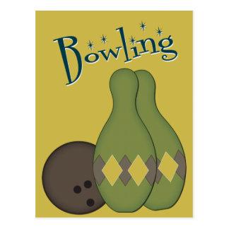 50s Retro Bowling Postcard