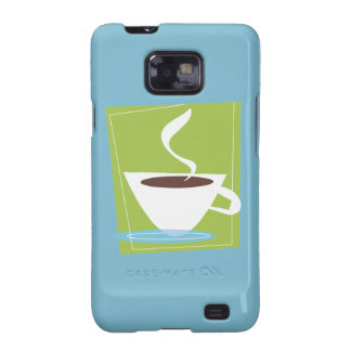 50s Retro Coffee Cup Graphic Samsung Galaxy SII Cover