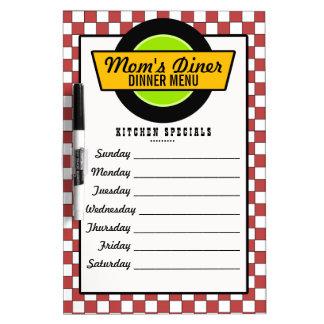 50's Retro Diner Menu Dry-Erase Board