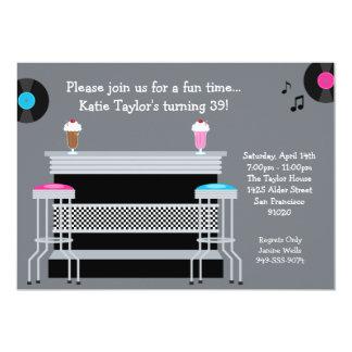 50's Retro Party Invitation