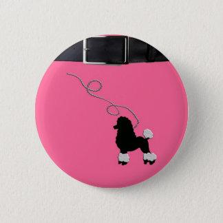 50s Retro Poodle Skirt Button