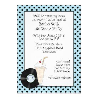 50's Rock and Roll Birthday Invitation