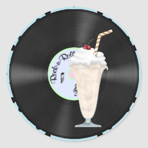 50s Rock and Roll Classic Round Sticker