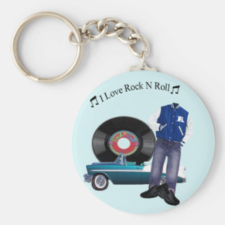50's Rock N Roll Keychain