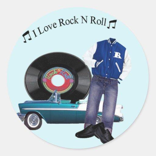 50's Rock N Roll Stickers