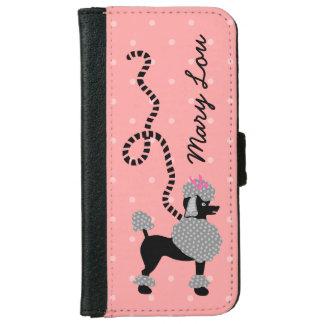 50s rosado de la falda del caniche y negro retro carcasa de iPhone 6