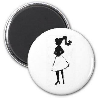 50's Silhouette Magnet