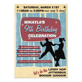 "50s Sock Hop Dance Party Invitation 5"" X 7"" Invitation Card"