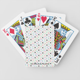 50's Sputnik Retro Pattern Bicycle Playing Cards