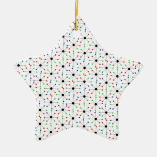50's Sputnik Retro Pattern Ceramic Ornament
