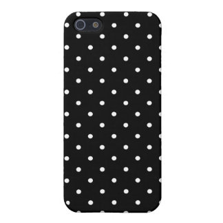 50's Style Black and White Polka Dot iPhone 5/5S C Case For iPhone SE/5/5s