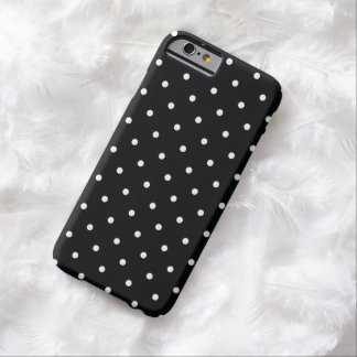 50s Style Black and White Polka Dot iPhone 6 Case