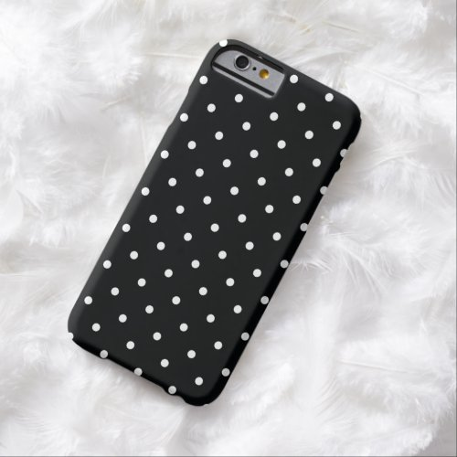 50s Style Black and White Polka Dot iPhone 6 Case Phone Case