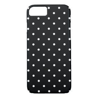 50s Style Black and White Polka Dot iPhone 7 Case