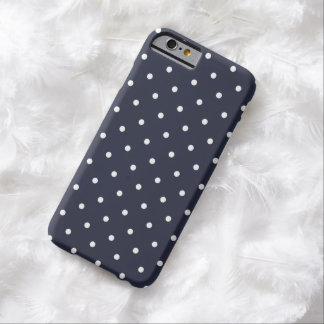 50s Style Classic Blue Polka Dot iPhone 6 Case