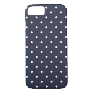 50s Style Classic Blue Polka Dot iPhone 7 Case