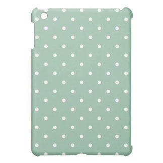50's Style Polka Dot iPad Mini Case - Grayed Jade