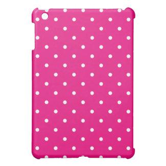 50's Style Polka Dot iPad Mini Case - Hot Pink