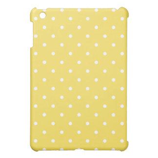 50's Style Polka Dot iPad Mini Case - Lemon Zest