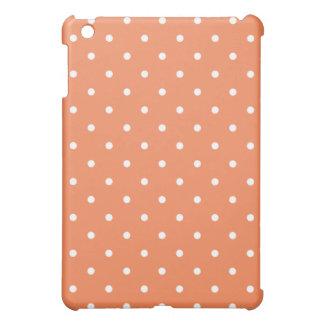 50's Style Polka Dot iPad Mini Case - Nectarine