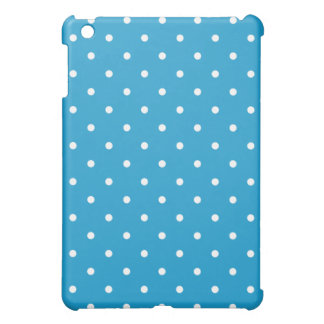 50's Style Polka Dot iPad Mini Case - Ocean Blue
