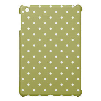 50's Style Polka Dot iPad Mini Case - Retro Olive