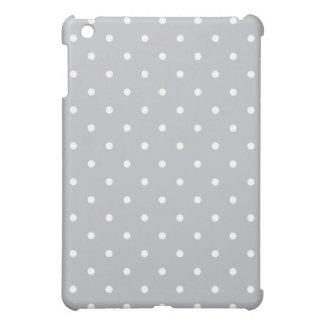 50's Style Polka Dot iPad Mini Case - Silver Gray